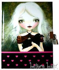 Goth : Journal Intime Cadenas 2 Clés Fille Coeur Rose NOIR & Corbeau gothique
