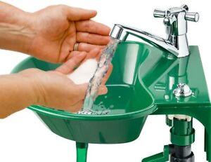 2 in 1 Water Faucet Drinking Fountain Patio Garden Outdoor Sink NEW