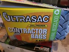 Extra Heavy Duty Contractor Bags - 42 Gallon, 4 Mil 32 Pack w/Ties - 48' x 33'