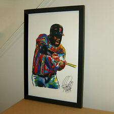 David Ortiz, Big Papi, Boston Red Sox, First Base, All Star, 11x17 PRINT w/COA
