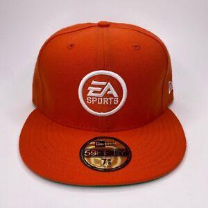 EA Sports Video Games Gaming New Era Fitted Baseball Logo Hat Cap Orange
