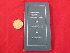 Cheshire County Cricket Club Stagione 1953 membri BIGLIETTO / impianti CARD