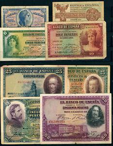 P063 SPAIN. LOT 11 BANK NOTES.