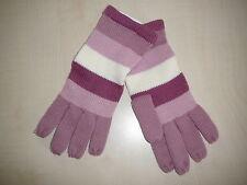 NEU Strick Handschuhe Gr. S / M rosa-creme gestreift !!