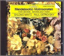 Shlomo Mintz & Paul Ostrovsky: Mendelssohn 2 Violin Sonata violionsonaten DG CD