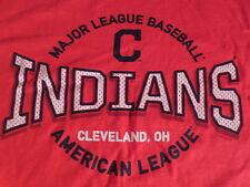 MLB Cleveland Indians Baseball T-Shirt Red Mens XL Jersey Mesh Style Logo New !!