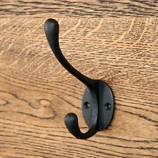 Appendiabiti Vittoriano 5 pollici Cappello nero vintage rustico piccolo ferro battuto in metallo