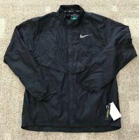Nike Run Division Men's Size M Running Jacket Black Lightweight Packable 922040