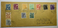1947 OFFENBACH AM MAIN GERMANY COVER WITH ALLIED CONTROL STAMPS SENT TO BOSTON