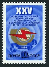 Russia 5260 block/4,MNH. Electric and Postal Communications Cooperation,1984.