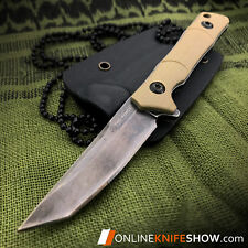 Sweet KISS Tanto Fixed Blade Tactical Slim Neck Knife Sheath TAN 2356 Tac-Force