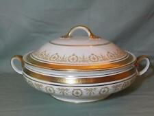 Aynsley Gold Dowery Bone China Covered Vegetable Tureen 7892