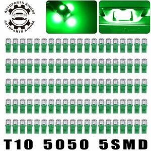 100x Vivid Green T10 5050 LED Dome Map Interior Light Bulbs 168 192 194 2825 W5W