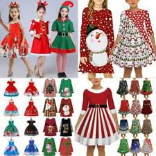 Kids Girls Xmas Princess Dress Party Christmas Cosplay Fancy Dresses Costumes