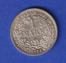 Deutsches Kaiserreich Silbermünze 1 Mark 1914 F
