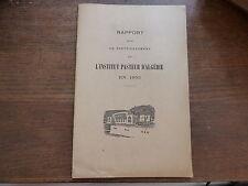 rapport sur le fonctionnement de l'institut pasteur d'algérie en 1953