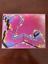 "Graffiti ""L"" 8 x 10 spray paint and marker Art on Canvas signed original"