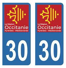 Autocollant Stickers plaque d'immatriculation véhicule auto département 30 Gard