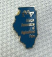 Illinois Association of Agricultural Fairs State Shaped Lapel Pin Collectible