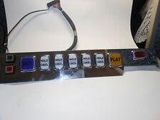 Video Poker Slot Machine Button Panel, Harness & Buttons