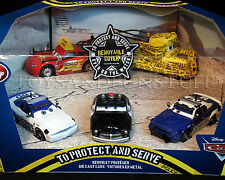 New - TO PROTECT AND SERVE - Pixar Cars POLICE 5-Pack MATER REMOVABLE COVER Didi