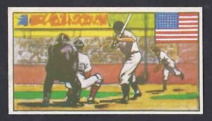 1962 Babe Ruth Dickson Orde & Co Sports Of The Countries Baseball USA Card #11