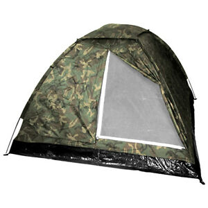 MFH Large 3 Person Monodom Tent Paintball Hunting Camping Hiking Woodland Camo