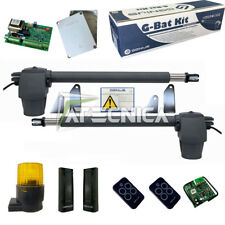 Kit cancello ante battenti FAAC GENIUS G-BAT KIT 230V RC 433Mhz 400kg 3m con 2TX