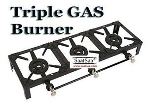 15Kw Large Triple LPG Gas Burner Cooker Cast Iron Boiling Ring Camping Outdoor