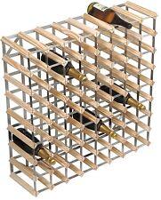 RTA 72 Bottle Traditional Wooden Wine Rack Natural / Dark / Black Ash Pine