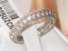 Modeschmuck-Ringe im Ehering-Stil aus Edelstahl mit Cubic Zirkonia-Hauptstein