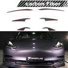 6PCS Carbon Fiber Front Bumper Lip Fins Bodykit Splitter For Tesla Model 3 16-19