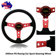 340mm Tuning RED Sport Steering Wheel with Horn Button