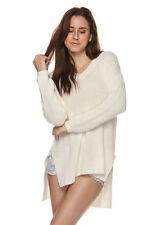 V-Neck Hi-Lo Knit Sweater Legging Top Med