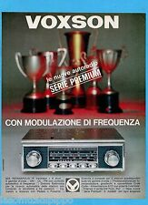 QUATTROR966-PUBBLICITA'/ADVERTISING-1966- VOXSON - AUTORADIO INDIANAPOLIS