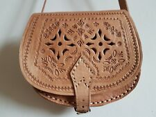 Tooled Lether Hand made bag New