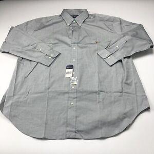 Polo Ralph Lauren 17.5 34/35 BIG TALL NEW Pinpoint Oxford Mens Dress Shirt