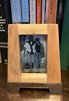 """Modern Fetco Family Home Decor - Picture Frames 4.5"""" H x 3.5"""" W  Metal & Wood"""