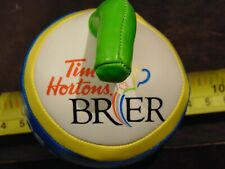 """Rare Tim Hortons 2014 Kamloops Brier Foam Curling Rock 3"""" x 3"""""""