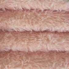"""1/4 yd 340H Pale Pink Intercal 5/8"""" Med. Dense Heirloom Finish Mohair Fur Fabric"""