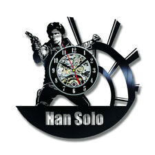 Star Wars Wall Clock Modern Design Han Solo Clocks Vinyl Wall Watch Home Decor