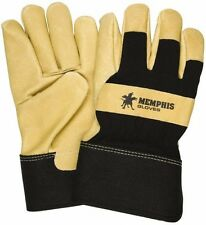 Memphis® Size 2XL, Pigskin Work Gloves Uncoated, Thermal Lined, Safety Cuff, ...