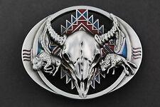 BULL Calavera Hebilla de Cinturón Metal occidental país Americana occidental Equitación