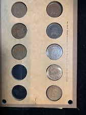 8 PC LOT LARGE CENTS XF-XF+
