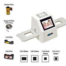Film Scanner 126KK/110/135/Super 8 Film Negative & Slide Converter 128M Memory