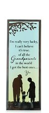Reflections of The Heart Mirror Glass Standing Plaque Gift - Grandparents