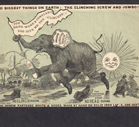 Jumbo 1880's Biggest Elephant on Earth Shoe Screw India Sun Victorian Trade Card
