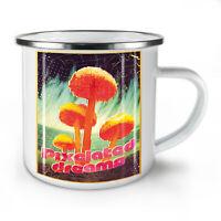 Pixelated Dreams NEW Enamel Tea Mug 10 oz | Wellcoda