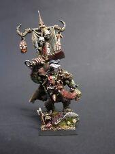 WARHAMMER Fantasy Orc HERO dipinto in miniatura