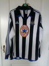 Newcastle United Vintage XL Home Shirt Long Sleeve Adidas 1999